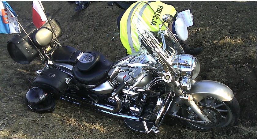 Na zdjęciu przedstawiony jest motocykl, który brał udział w śmiertelnym wypadku w Pamiętnej.