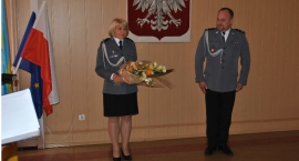 Uroczyste przyjęcie nowej Pani Komendant skierniewickiej Policji
